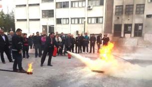 Öğretmenlere Yangın Güvenliği Eğitimi
