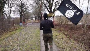 DEAŞ bayrağıyla Danimarka 'dan Almanya 'ya geçti