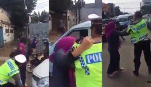 Kadın sürücü ceza kesen polise saldırdı!