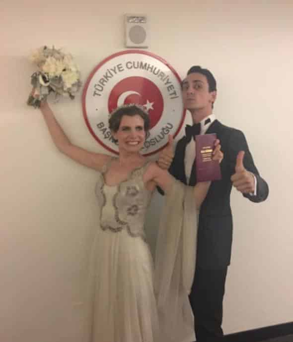 Ayşecan Tatari ve Edip Tepeli New Yorkta evlendi